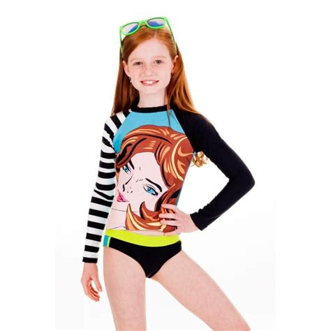 underage girls swimwear limeapple girls swimwear rashguard preteen girls