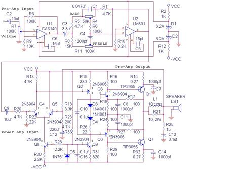 polarized capacitor orcad audio lifier