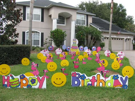 yard decoration birthday news