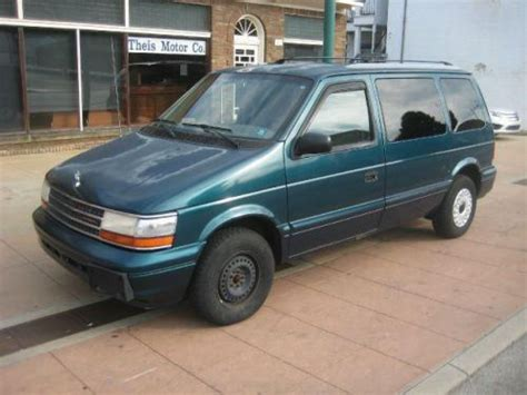 how to learn about cars 1995 plymouth grand voyager engine control buy used 1995 plymouth voyager in 9011 reading rd reading ohio united states for us 1 450 00