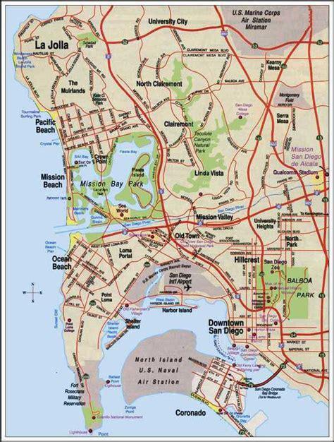 maps san diego maps of san diego
