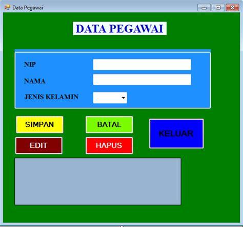 membuat database pegawai mysql cara membuat program data pegawai sedehana di vb 2012