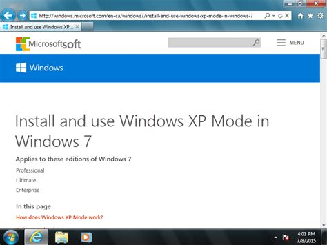 installing xp and wordpress on windows 7 download windows xp mode support files and install in