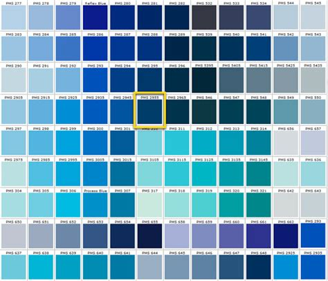 shades of blue chart the enchanted home