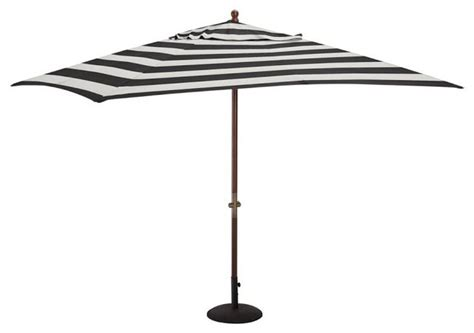Sunbrella Rectangular Umbrella Awning Stripe Black Black And White Patio Umbrella