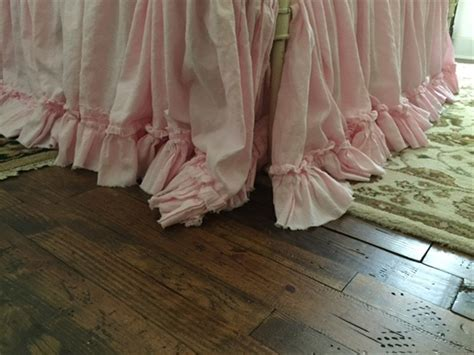 washed linen bedding washed linen bedding petal pink ruffled bedding torn ruffle