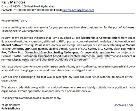 cover letter format for freshers cover letter for resume with sle cover letter format