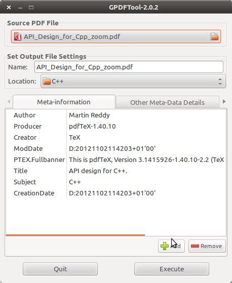 compress pdf ubuntu gui pdf metadata gui editor in ubuntu tek et al