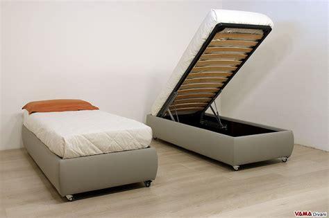 letti contenitore singoli letto singolo con contenitore senza testata prezzi e foto