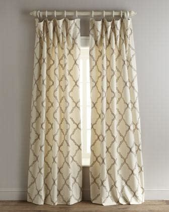 White Curtains With Brown Pattern Elysian Curtains Neiman