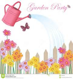 garden party invitation stock vector image of floral