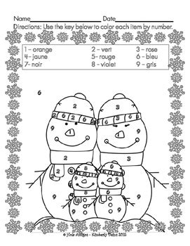 french color by numbers coloring pages joyeux janvier happy january french color by number 4