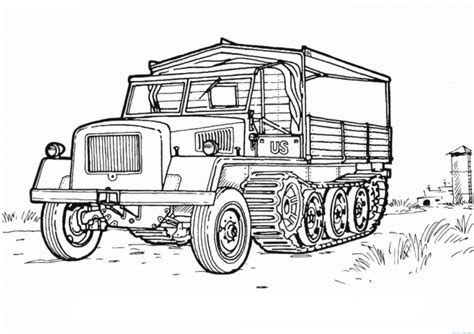 free coloring pages of color army jeep