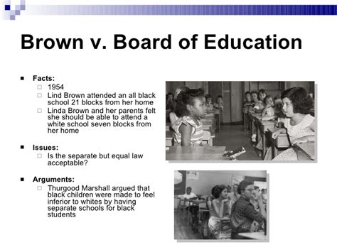 Brown V Board Of Education Essay by Brown Vs Board Of Education Term Paper