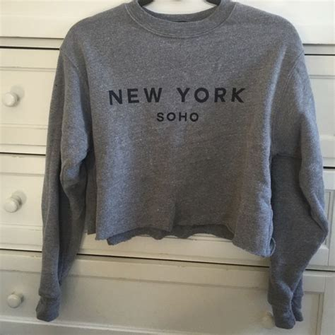 New York Cropped Hoodie White M 1000 ideas about half shirts on crop tops