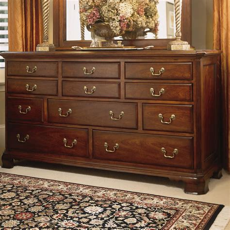 cherry triple dresser bedroom triple dresser with 11 drawers by american drew wolf and