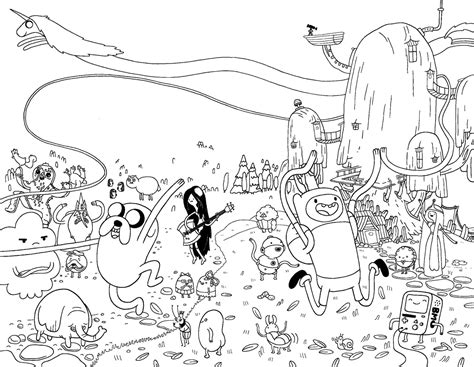 Cartoon Network Adventure Time With Finn And Jake Coloring Printable Adventure Time Coloring Pages