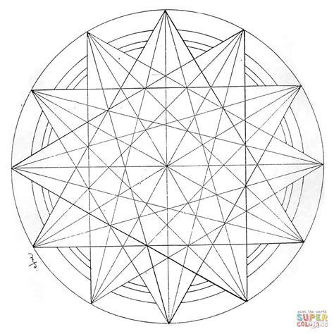 geometric pattern mandala geometric mandala coloring page free printable coloring