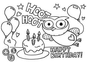 happy birthday coloring page printable happy birthday coloring pages coloring me