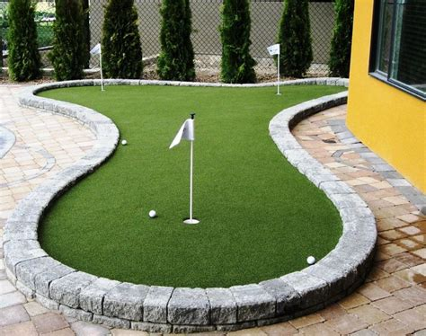 image result for how to make a side yard putting green