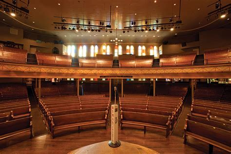 Nashville Ryman Auditorium Artists Stand On Brazilian Teak