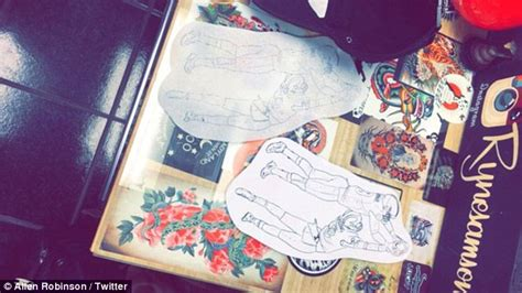christian hackenberg tattoo penn sate player turned nfl star allen robinson gets a
