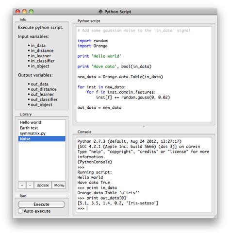 python script orange documentation v2 7 8