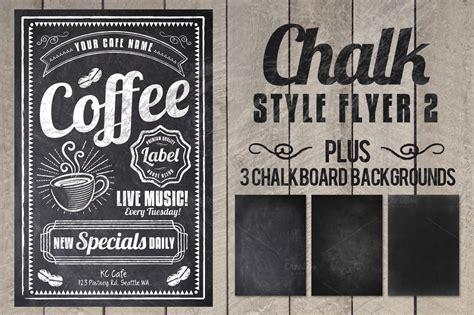 Chalk Flyer Flyer Templates On Creative Market Chalkboard Poster Template Free