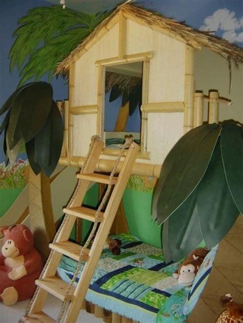 bett baumhaus lustige dschungel dekoration im kinderzimmer 15 sch 246 ne