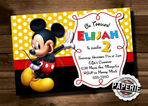 mickey mouse birthday card template mickey mouse invitation template 23 free psd vector