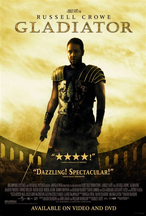 gladiator film book gladiator movie review