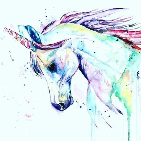 watercolor tattoo unicorn watercolor by lisa whitehouse