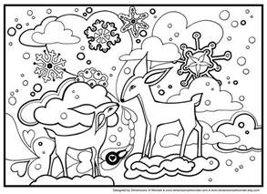free coloring pages winter theme