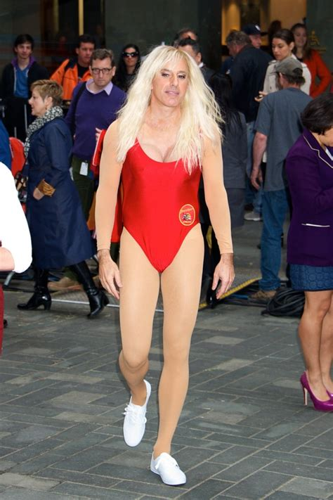 matt lauer dresses as pamela anderson as today show celebrates nbc s today show annual halloween episode in new york