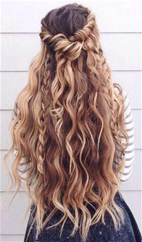 top 25+ best wavy hair with braid ideas on pinterest