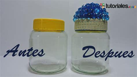 como decorar frascos de vidrio you tube como decorar frascos de vidrio reciclados youtube
