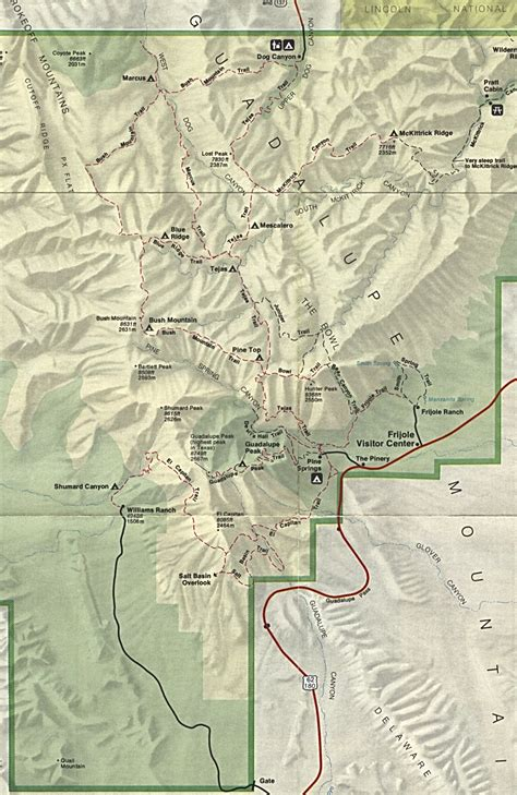 guadalupe mountains texas map index of maps texas