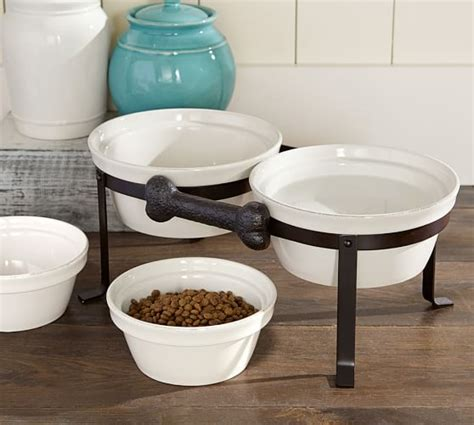 food bowl stand cambria pet bowl stand pottery barn