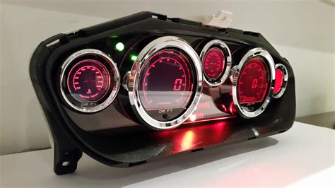 custom nissan 240sx s14 240sx s14 led cluster custom cluster development