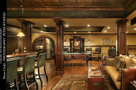 pub room pub bar seating and pool table basement new york