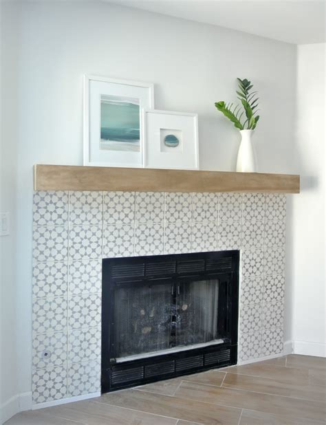 tiled fireplace surround diy fireplace makeover centsational style