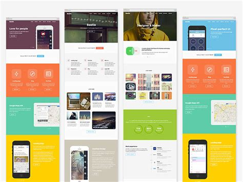 Beetle Html5 Template For Designers Freebiesbug Html5 Animated Website Templates