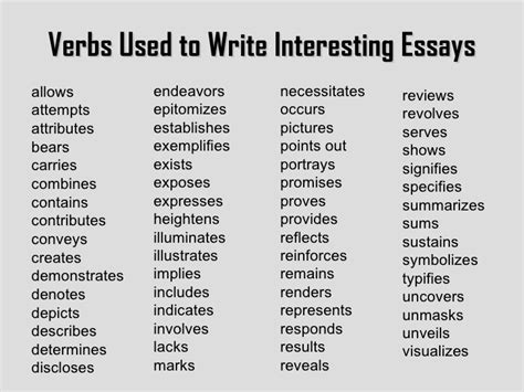 why should verbs be used in writing a resume image gallery interesting verbs