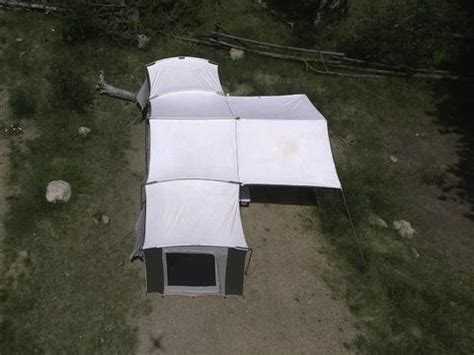 Kodiak Canvas Cabin Tent With Awning by Kodiak Grand Cabin With Awning 26x8 Canvas Tent 6160