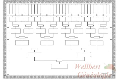 printable family tree template 6 generations empty to fill