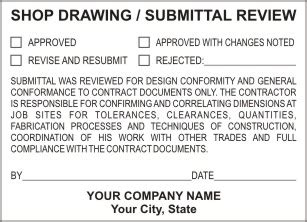 engineering and architect review and submission stamps