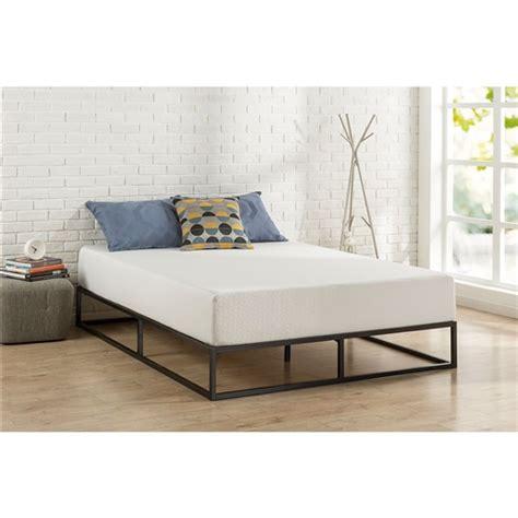 twin size    profile modern metal platform bed