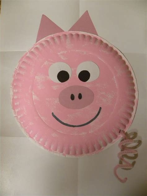 Pig Paper Plate Craft - this is a activity that i did in a preschool class