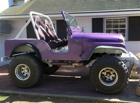 purple jeep cj 1978 jeep cj5 custom v8 lifted 35 quot swampers fiberglass