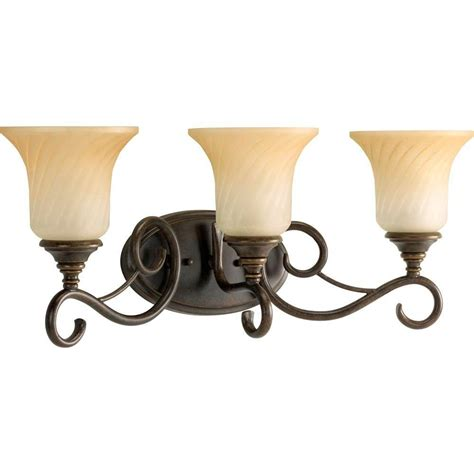 Bronze Vanity Light Fixture Progress Lighting Kensington Collection 3 Light Forged Bronze Vanity Fixture P2785 77 The Home